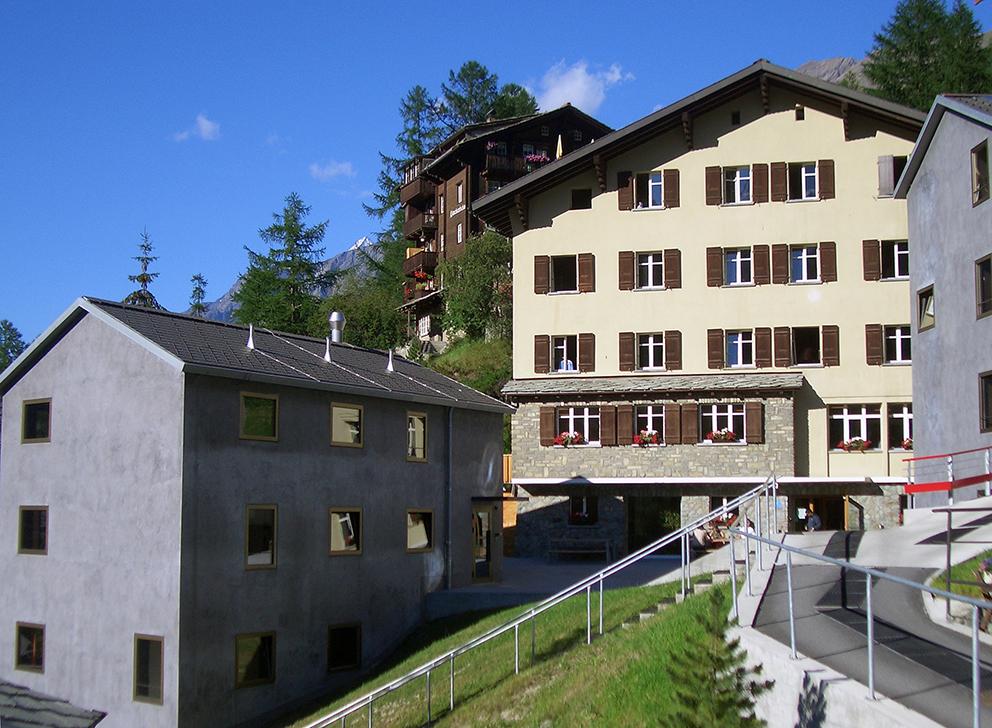 Die Jugendherberge in Zermatt