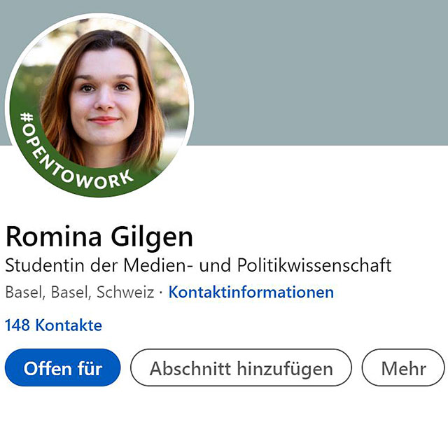 Screenshot von Linkedin-Profil
