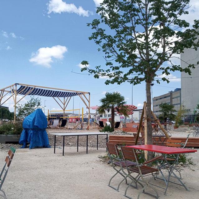 Blick auf Lido-Platz.